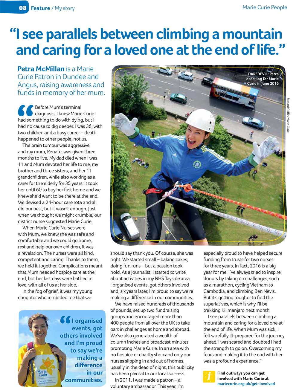 Marie Curie People magazine feature